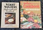 WEIGHT WATCHERS 2 COOK BOOK LOT VINTAGE 1970s COOKBOOK INTERNATIONAL HARDCOVER