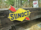 SUNOCO Large 20 by 15 Gasoline Racing  & Motor oil raised embossed metal Sign co
