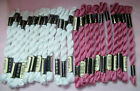 24 Skeins WHITE  ROSE ANCHOR PEARL COTTON 5g Embroidery Floss Germany
