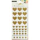 American Craft Crate Paper Maggie Holmes Shine Glitter Basic Stickers Gold