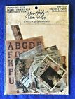 Tim Holtz Idea ology Scrapbook Embellishments Thrift Shop Ephemera Pack Vellum