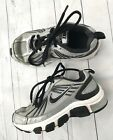 Nike Boys SZ 125 Child T Run 4 Shoes Sneakers Gray Black Laces Clean Low Top