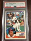 1983 TOPPS TRADED #34T JULIO FRANCO RC PSA 8