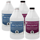 Crystal Clear Bar Table Top Epoxy Resin Coating For Wood Tabletop 4 Gallon Kit