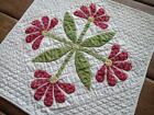Green Table or Doll QUILT Mexican or Aztec Rose