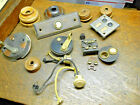 Lot Door Bell Buttons, Lever Switches, Copper Flash, Brass