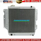 3 ROW ALUMINUM RADIATOR FOR 87 06 JEEP WRANGLER YJ TJ 24L 25L 40L 42L SS