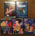 5 Disney DVDs SNOW WHITE Beauty and the Beast SLEEPING BEAUTY Finding Nemo LADY