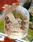 ANTIQUE CHINESE QING DYNASTY REVERSE PAINTED SNUFF BOTTLE WARRIOR / BATTLE SCENE