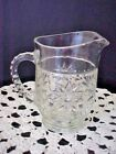 Juice Pitcher Early American Prescut EAPC Star of David Glass Vintage
