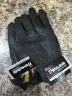 Large Black Deerskin Leather Gloves with 100gm of 3m THINSULATE lining