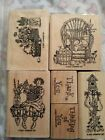 Stampin Up Rubber Stamps Thank you Thinking of you set