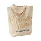 Personalized Bridal Party Tote Bags Bridesmaid Bag Maid of Honor Canvas Tote