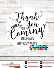 Thank you for coming Birthday Party Personalized Party Favor Round Stickers