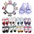 Canvas Lace Up Sneakers Shoes 18 Inch Girl Boy Doll