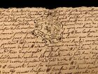 RARE Signed and Handwritten Document 1744