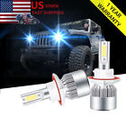 2x Ice Blue 9008 LED Headlight Hi Low Beam For Jeep Wrangler JK 2018 90W 10000LM