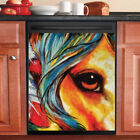 Country Decor Kitchen Dishwasher Magnet Beautiful Native Horse 1