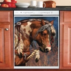 Country Decor Kitchen Dishwasher Magnet Beautiful Native Horse 3