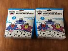 Lot Of 2 3 Pack Big Mouth Inflatable Pool Party Beverage Boats Patriotic Stars
