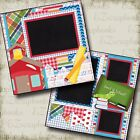 BACK to SCHOOL Premade Scrapbook Pages EZ Layout 370