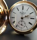 Henry Sandoz 14K Hunter Case Pocket Watch with Repeater and Timer