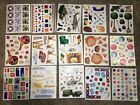 Creative Memories Block Stickers Lot Of 15 Sheets