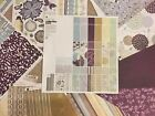 BASIC GREY retired WISTERIA 18 Scrapbook Papers Alphabet Stickers Minus Few