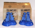 Fiesta Lapis Pyramid Candlestick Set #507 of 600 Fiestaware HLC Homer Laughlin