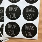30 Black And White Thank You Stickers