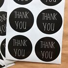 100 Black And White Thank You Stickers