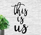 This Is Us Metal Sign 3 Separate Words This Is Us Words Rustic Decor Farmhouse