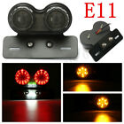 Motorcycle Quad ATV LED Tail Turn Signal Brake Light + License Plate Bracket