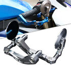 CNC Silver Brake Clutch Levers Hand Guard Rear View Mirror For Yamaha Suzuki US