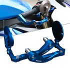 CNC Blue Brake Clutch Levers Hand Guards Rear View Mirrors For Yamaha Suzuki US