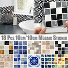 Kitchen Bathroom Tile Mosaic Stickers Self adhesive Waterproof Home Wall Decor