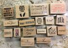 1 Assorted Wooden Rubber Stamp by Stampabilities  Many Choices You Choose
