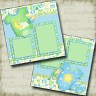 Baby Boy Gear 2 Premade Scrapbook Pages EZ Layout 3800