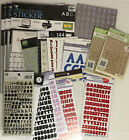 HUGE LOT Alphabet Letter Stickers Scrapbook black red glitter thickers chipboard