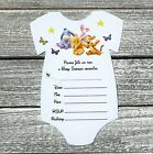 10 Winnie The Pooh Baby Shower Invitations with Envelopes Fill In