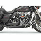 Bassani Black True Dual Down Under Head Pipes 2009 16 Harley Touring