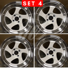NEW 16 SWIRL TMB STYLE WHITE WHEELS RIMS FITS BMW 3 SERIES TOYOTA YARIS TERCEL