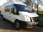 2008 FORD TRANSIT T280 24 CREW CAB 5SEATS PANEL WINDOWS JULYMOT 8SERVICES