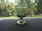 Hazel Atlas Olive/Avocado Green Glass Footed Planter/Vase/Candy Dish Retro 1950s