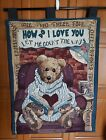 Boyds Bear and Friends Wall Hanging / Tapestry How do I love you teddy book