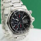EBEL 1911 DISCOVERY CHRONOGRAPH STAINLESS STEEL DAY DATE AUTOMATIC MENS WATCH