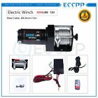 ECCPP 3000LBS Electric Winch Towing Truck Trailer 12M Steel Cable Off Road 12V