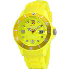 Ice-Watch Flashy Yellow Dial Silicone Strap Unisex Watch SS.NYW.B.S.12