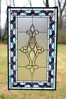20 x 34 Large Handcrafted stained glass Beveled window panel