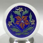 Vintage Murano Art Glass Paperweight Rare Hand Painted Encased Plaque